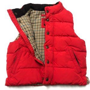 3/$50 Baby Gap toddler puffer vest flannel 3 0280